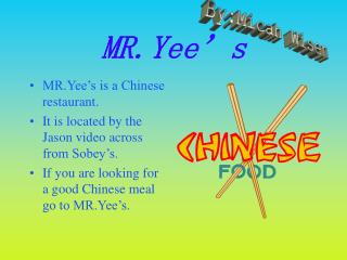 MR.Yee's