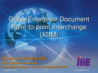 Cross-Enterprise Document Point-to-point Interchange (XDM)