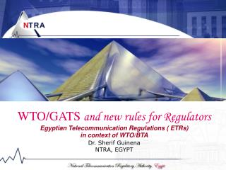 WTO/GATS  and new rules for Regulators