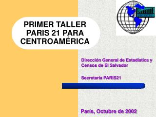 PRIMER TALLER PARIS 21 PARA CENTROAMÉRICA