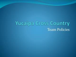 Yucaipa Cross Country