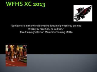 WFHS XC 2013