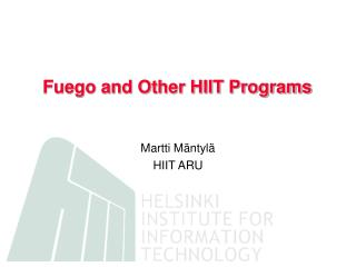 Fuego and Other HIIT Programs