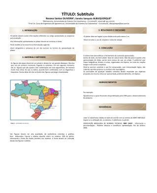 Rosana Santos OLIVEIRA 1 ; Sandro Sampaio  ALBUQUERQUE 2