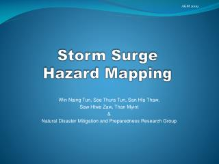 Storm Surge Hazard Mapping