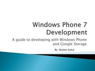 Windows Phone 7 Development