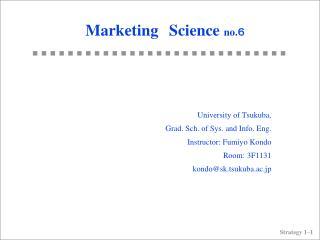 Marketing Science  no. ?