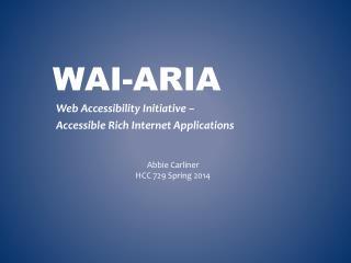 WAI-ARIA