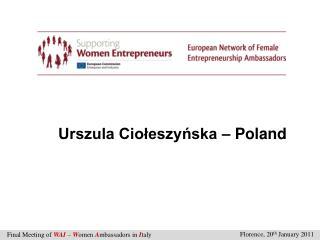 Urszula Ciołeszyńska – Poland