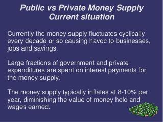 Public vs Private Money Supply Current situation