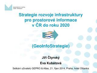 Strategie rozvoje infrastruktury  pro prostorové informace  v ČR do roku 2020 ( GeoInfoStrategie )