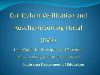 Louisiana Department of Education