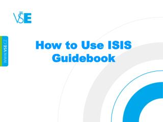 How  to Use ISIS Guidebook