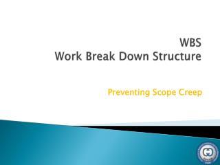 WBS Work Break Down Structure
