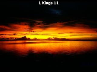 1 Kings 11