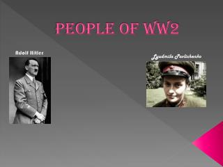 People of ww2