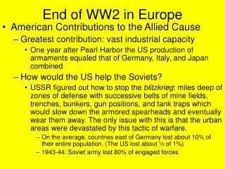 End of WW2 in Europe