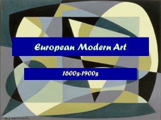 European Modern Art