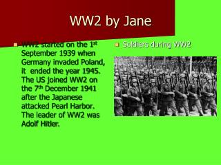 WW2 by Jane