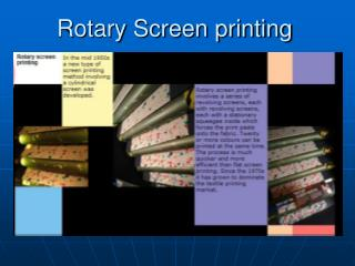 Rotary Screen printing