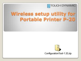 Wireless setup utility for Portable Printer P-20