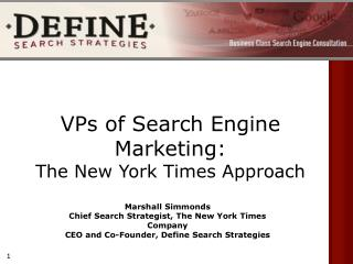 VPs of Search Engine Marketing:  The New York Times Approach