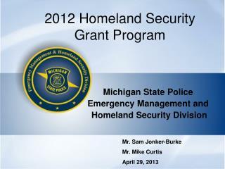 2012 Homeland Security Grant Program