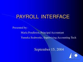 PAYROLL  INTERFACE