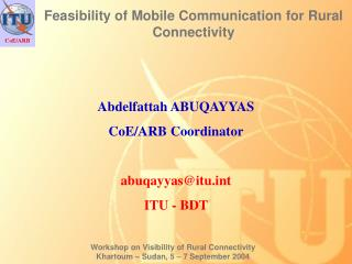 Feasibility of Mobile Communication for Rural Connectivity