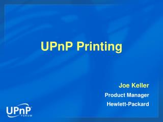 UPnP Printing