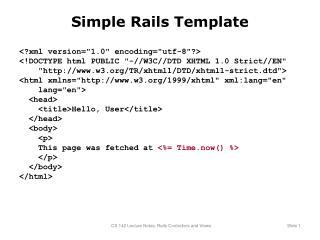 Simple Rails Template