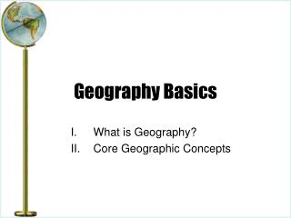 Geography Basics