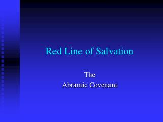 Red Line of Salvation