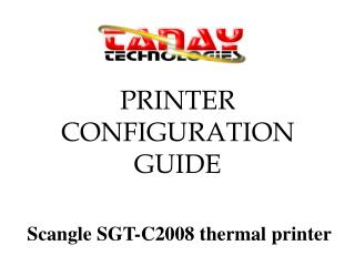 PRINTER CONFIGURATION GUIDE