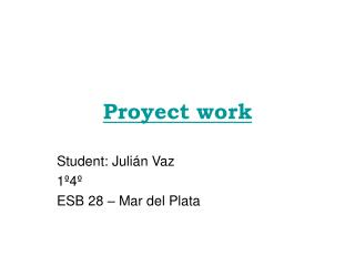 Proyect work