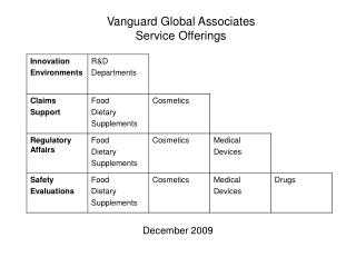 Vanguard Global Associates Service Offerings