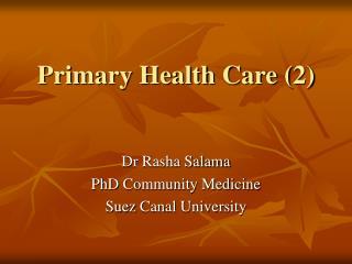 Primary Health Care (2)