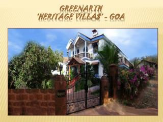 Portuguese Style Villas at Goa