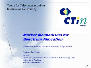 Market Mechanisms for Spectrum Allocation