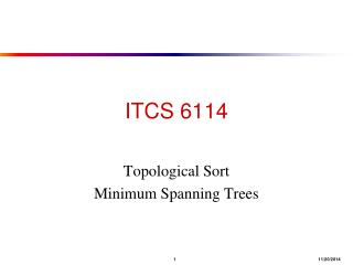 ITCS 6114