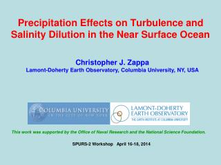 Precipitation Effects on Turbulence and Salinity Dilution in the Near Surface Ocean