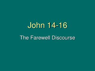 John 14-16