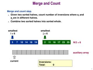 Merge and Count