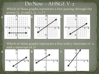 Do Now – AHSGE V-2