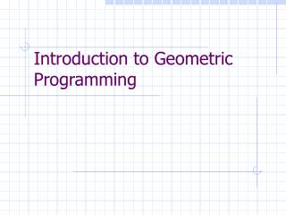 Introduction to Geometric Programming