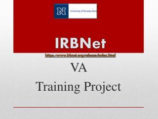 IRBNet https:// irbnet/release/index.html