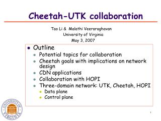 Cheetah-UTK collaboration