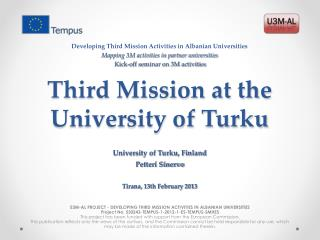 Third Mission at the University of Turku