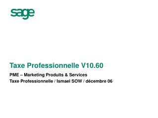 Taxe Professionnelle V10.60