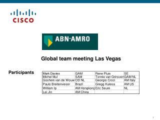 Global team meeting Las Vegas